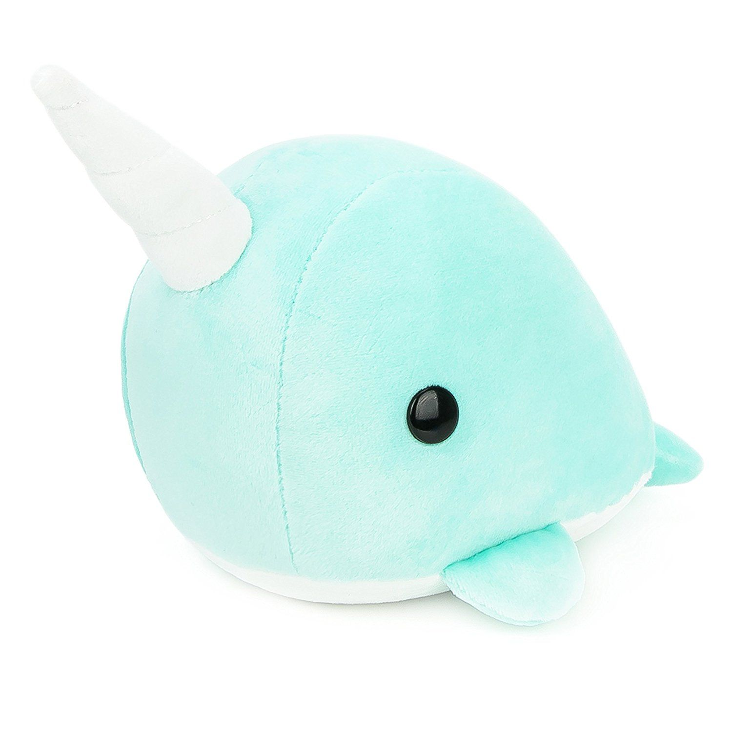 Bellzi Teal Narwhal Stuffed Animal Plush Toy Adorable