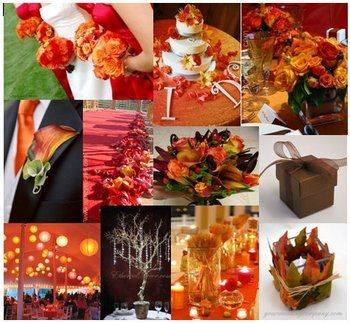 Orange And Red Wedding Colors Burnt Orange Color Theme Planning