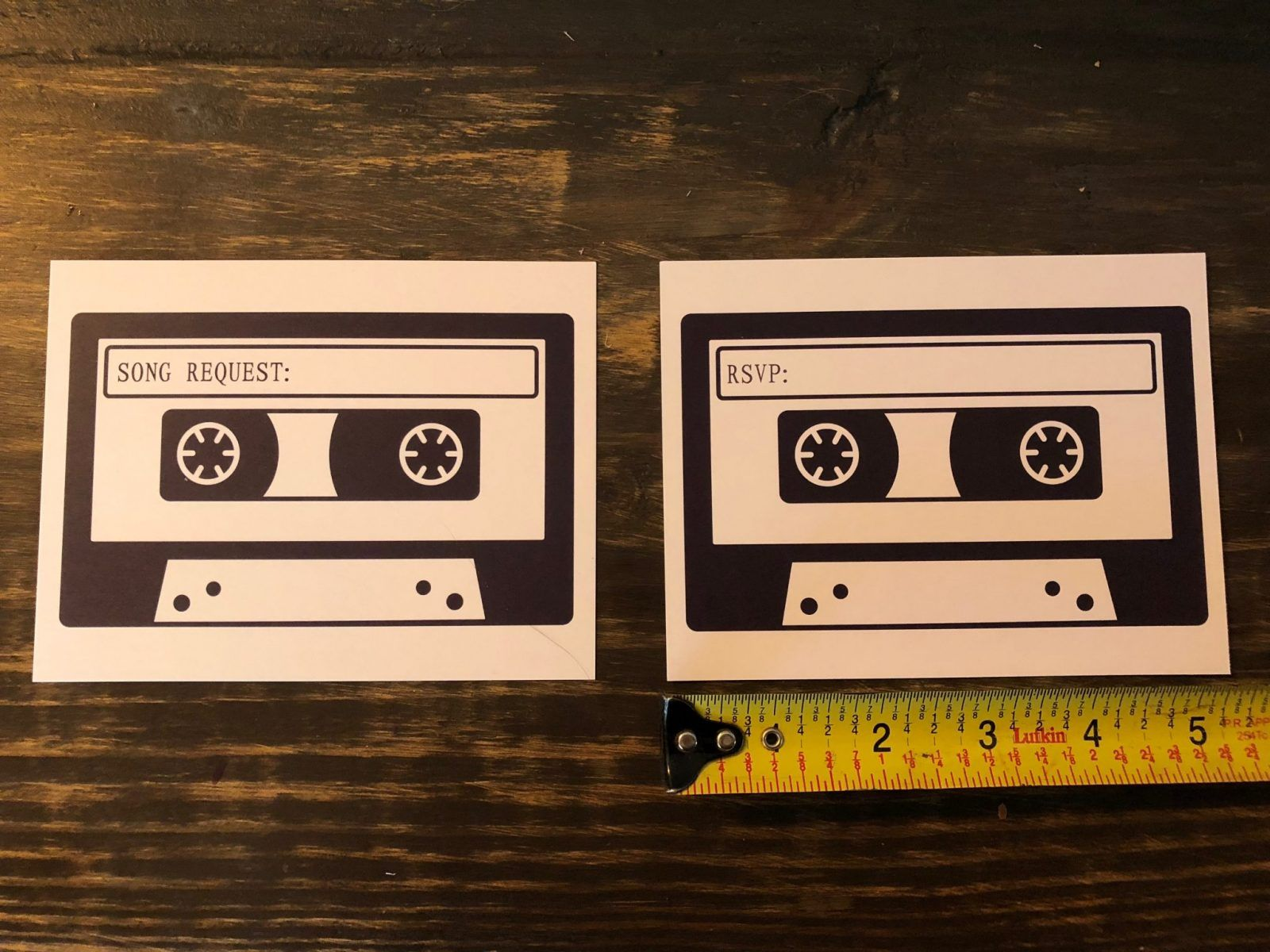 Rsvp Cards With Song Request Cassette Tape Mixed Tape Wedding Recycle In 2020 Song Request Rsvp Card Cassette Tapes