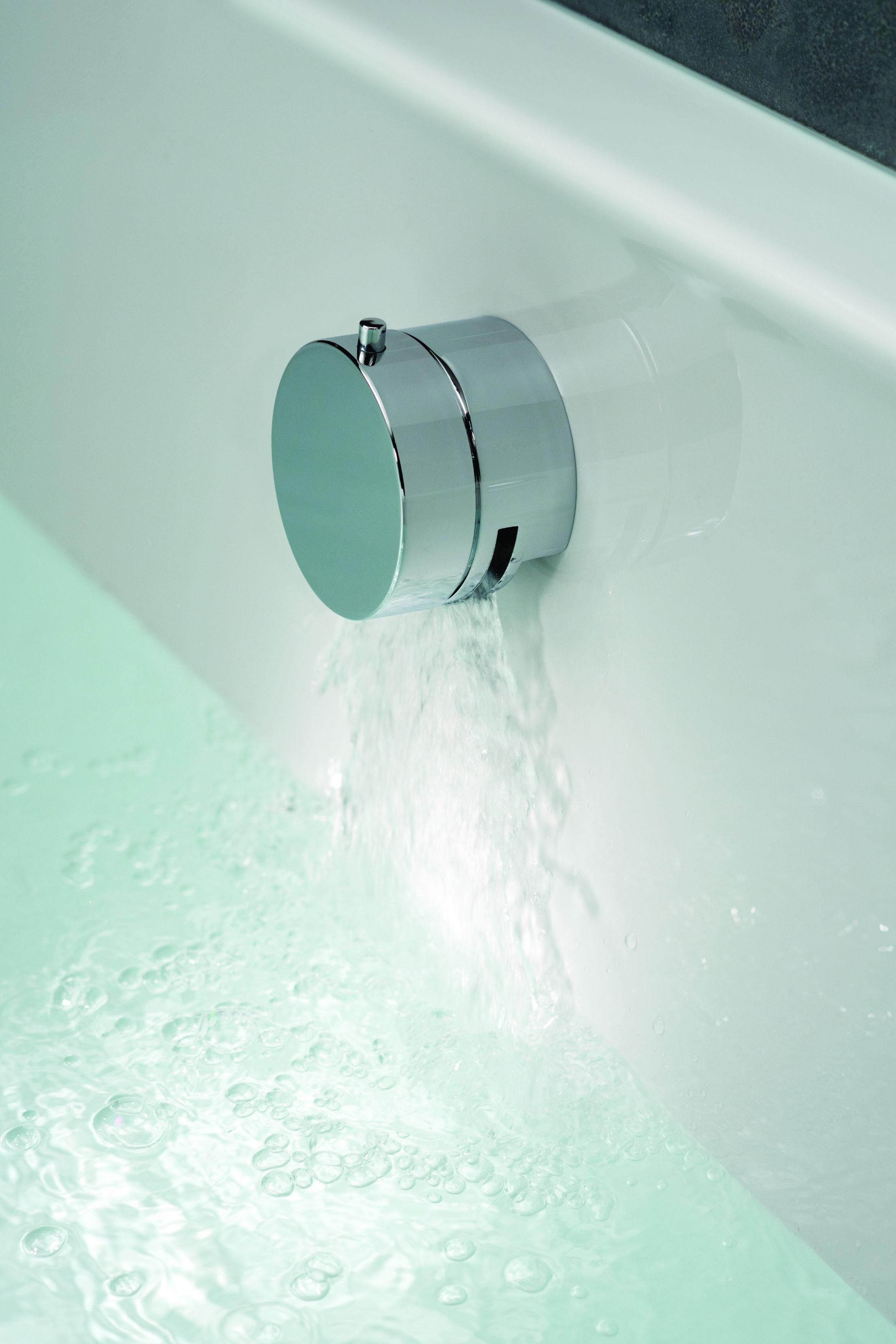 Want to fill a bath stylishly? Slim design bath filler waste with ...