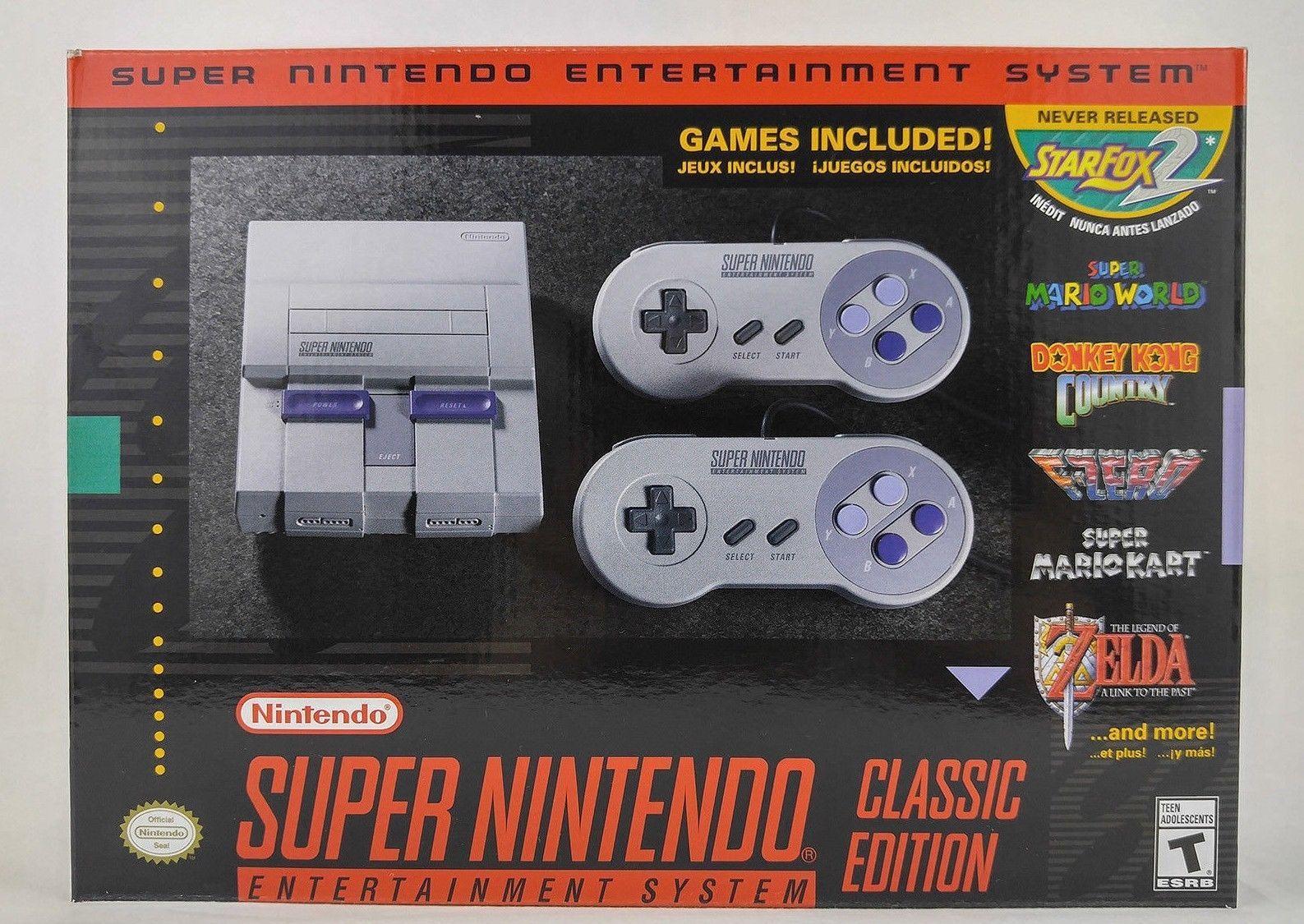 Super Nintendo Entertainment System Super Nes Classic Edition Snes