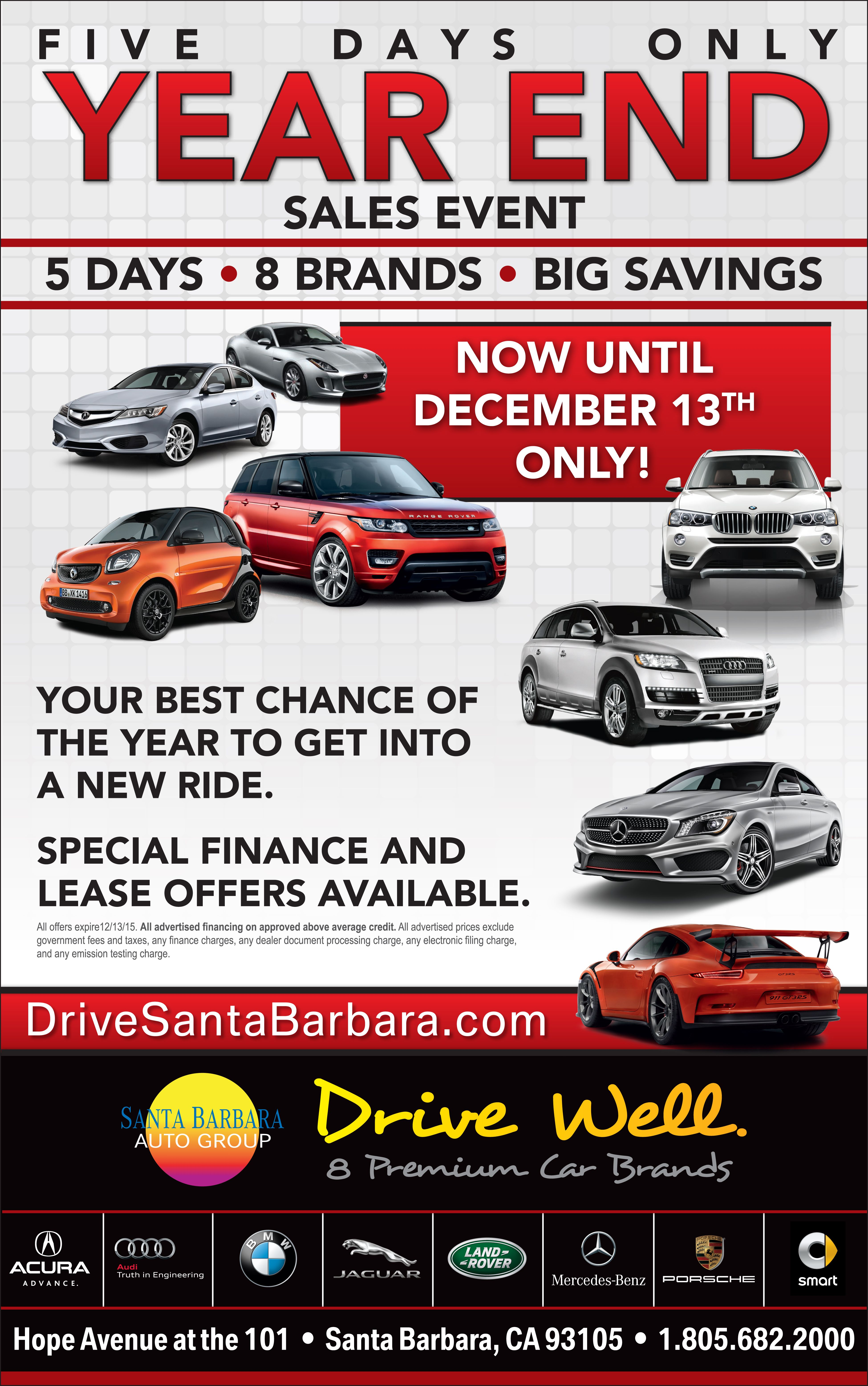 Take advantage of our Year End Sales Event 2015