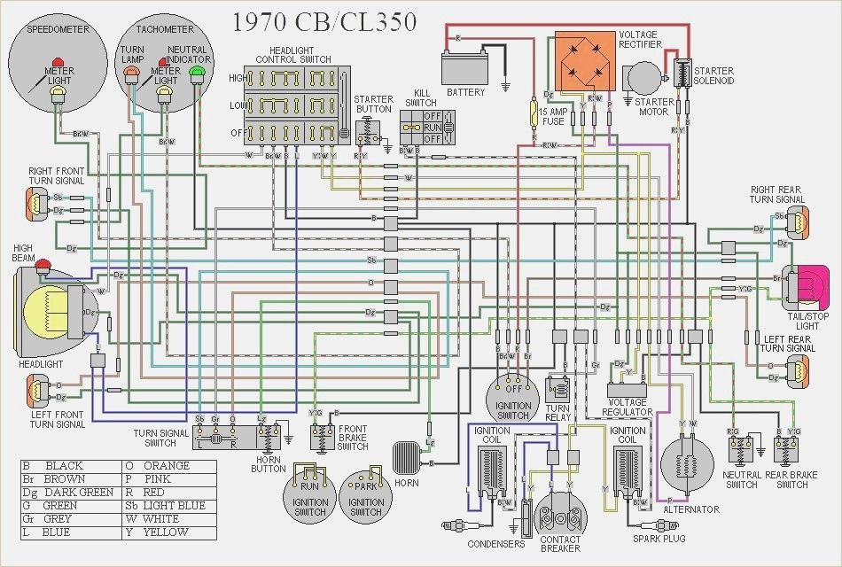 1972 Honda Cb350 Wiring Diagram Cb350 Cl350 Diagram