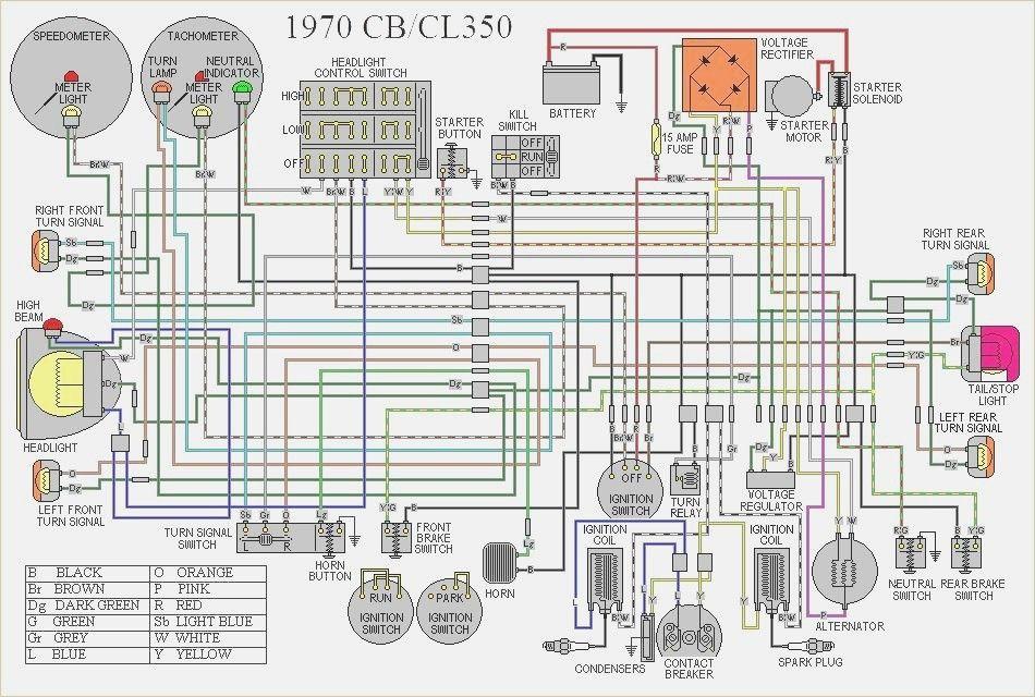 1972 honda cb350 wiring diagram  cb350 cl350 diagram