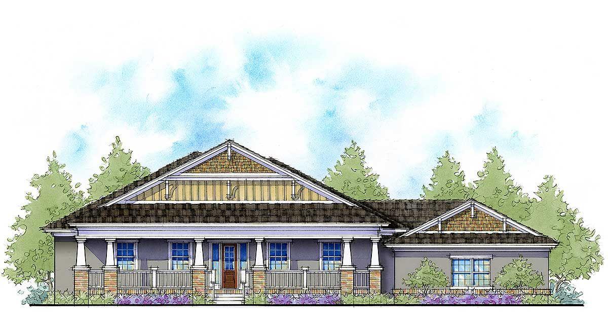Plan 33169ZR 4 Bed Southern EnergySaving Home Plan