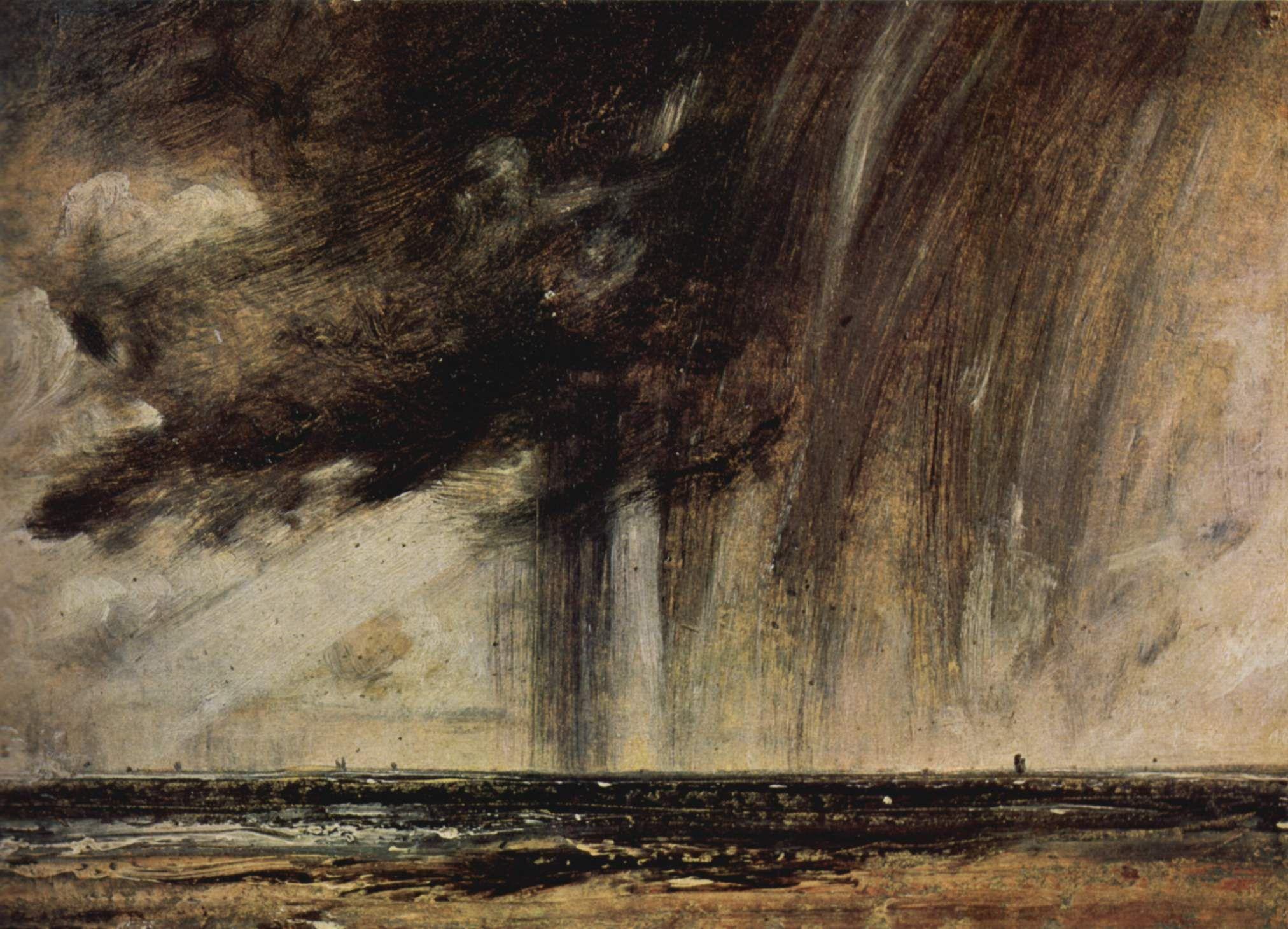 John Constable - Seascape Study with Rain Cloud (1827)