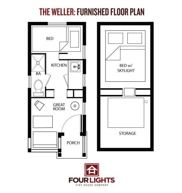 The 115 Sq Ft Weller Tiny House On Wheels By Jay Shafer Tiny House Floor Plans Tiny Houses Plans With Loft Small Tiny House