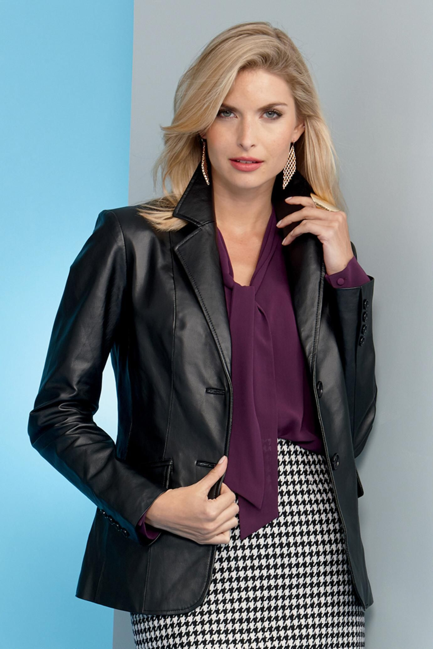 Genuine Leather Blazer: Unique & Bold Women's Clothing from #metrostyle $49.99 - $89.99
