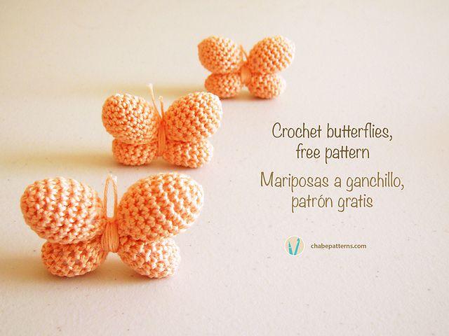 Crochet butterflies  Free by ChabeGS