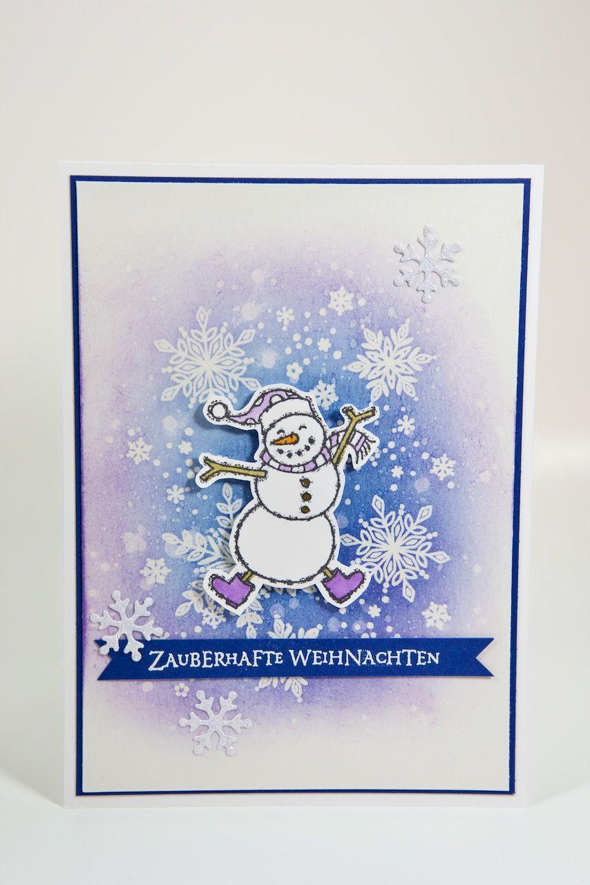 Schneemannkarte mit Material von Stampin' Up! #stampinup!cards