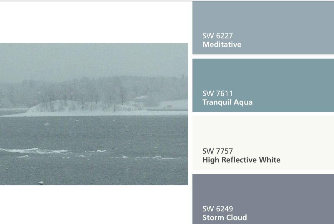 Shades of stormy grays and greens with sherwin williams - Gray clouds sherwin williams exterior ...