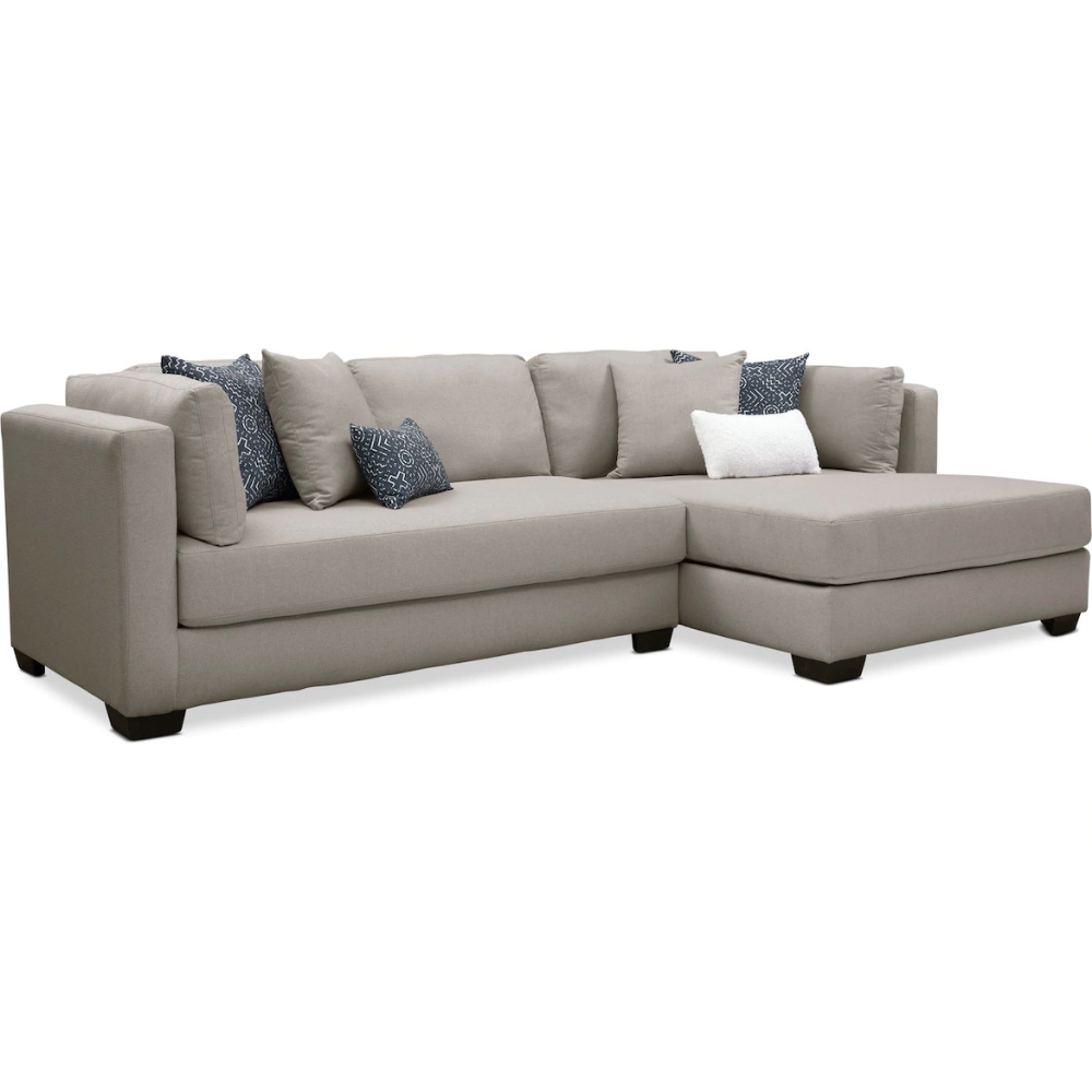 Rosalyn 2 Piece Sectional With Chaise Value City Furniture And Mattresses Value City Furniture Furniture Sectional