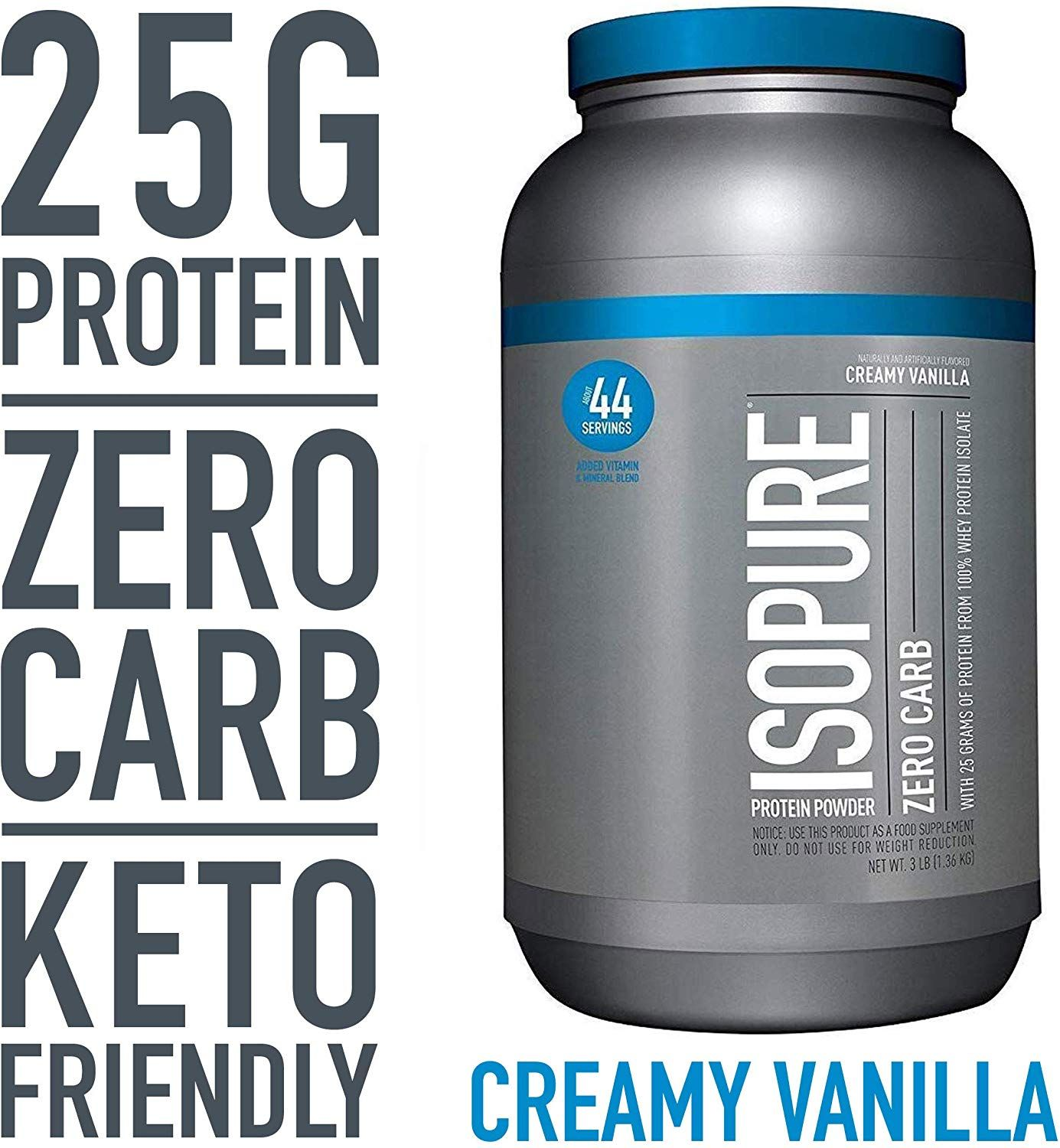 100% WHEY PROTEIN ISOLATE a high quality protein source providing 25 grams per serving to support mu...