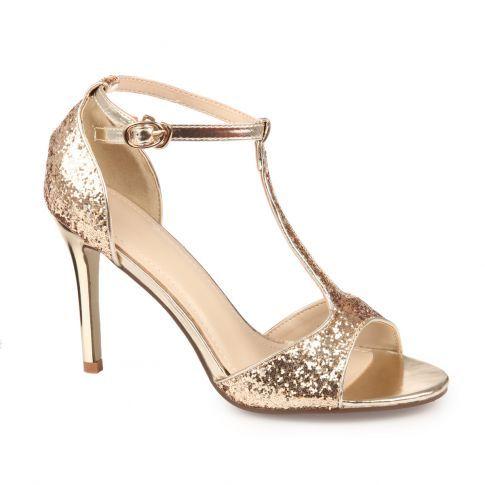 Chaussures à talon aiguille dorées femme x5e6RIs