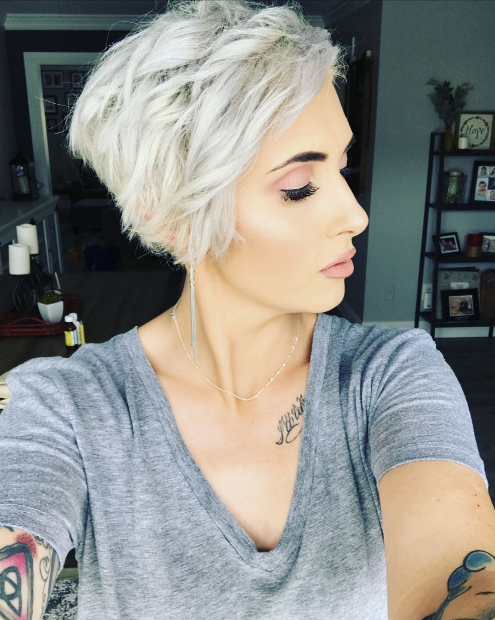 Platinum blonde pixie haircut pixie cut ideas blonde pixie haircut ...