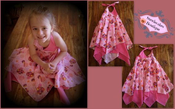 Peaceful and Pink Dress Size 6/7 by stewiecakes on Etsy, $37.50