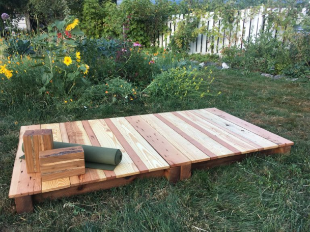 Yoga In The Garden Ananda Woodworks Yoga Yoga Space In 2020