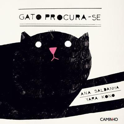 Illustration by Yara Kono, in Gato Procura-se, Caminho Editora.