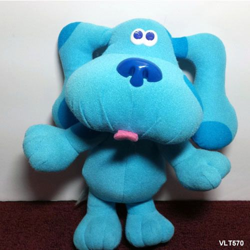 Blue's Clues Sing Along 1997 Blue the Dog Plush Plays ...