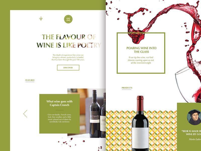 Dribbble - Wine Web by Levani Ambokadze