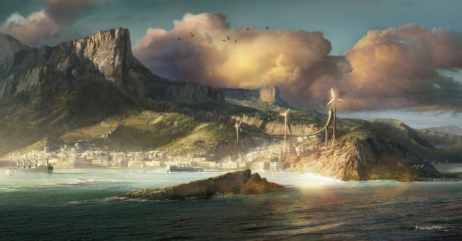 Concept For Dishonored 2 By Francois Baranger Steampunk 2d Dishonored 2 Dishonored Fantasy Landscape