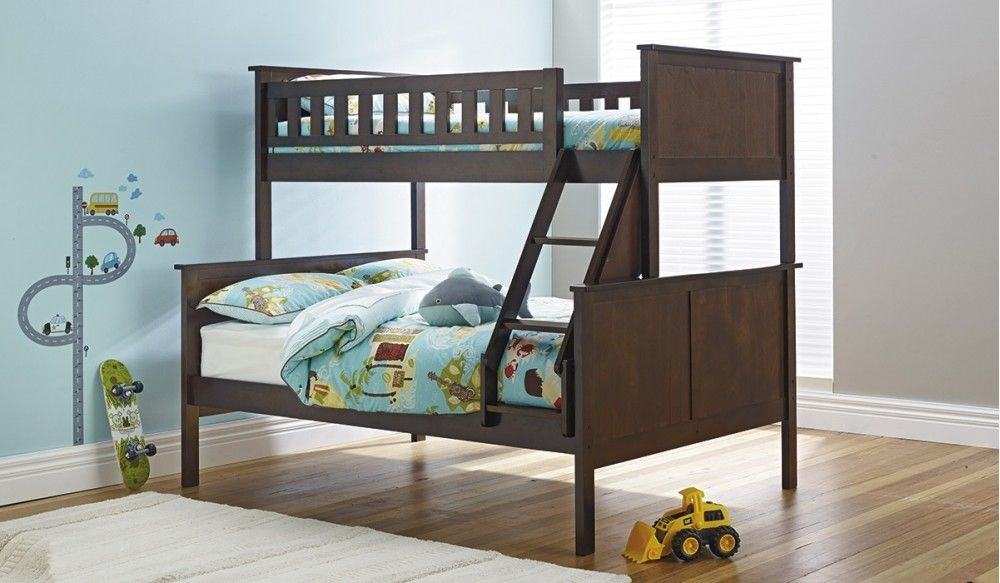 Best This Cute Little Childrens Bunk Is Made In A Dark Chocolate Timber And Is Finished With 400 x 300