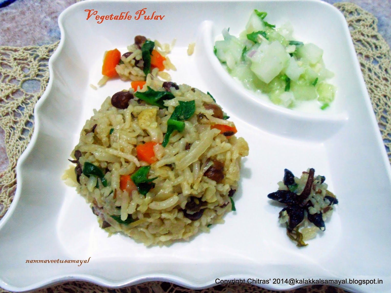 kalakkalsamayal Vegetable Pulav with Coconut Milk