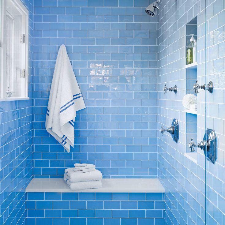 Nautical New England Beach House With Images Blue Bathroom