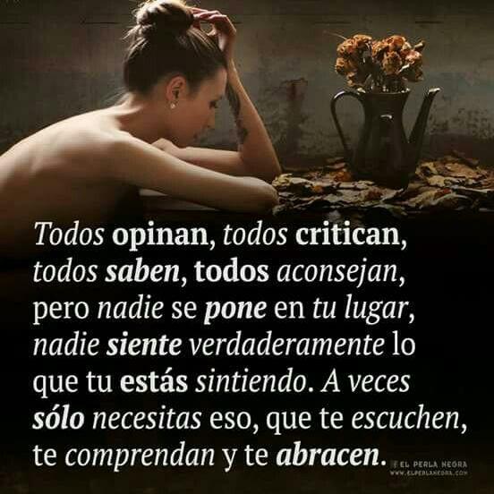 Todos opinan, todos critican.