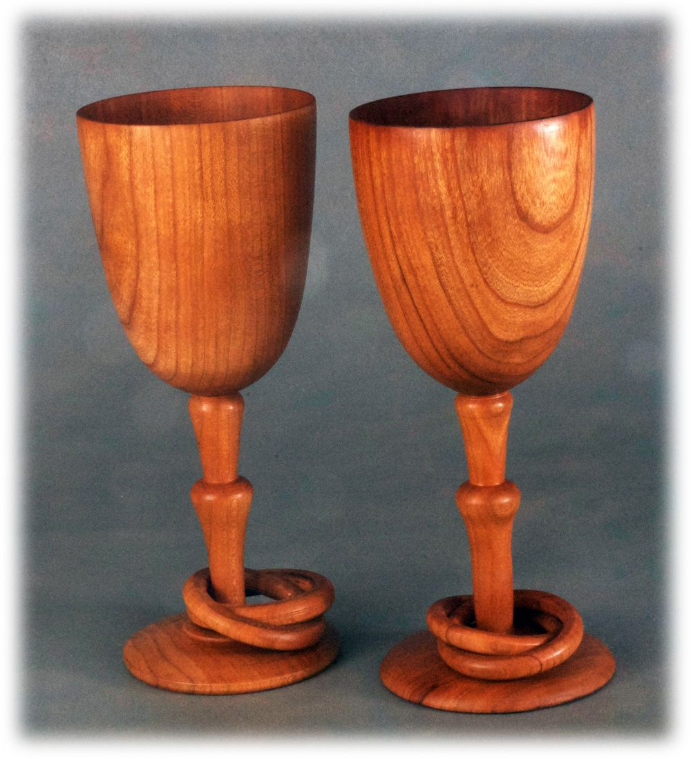Wooden Wine Glasses For 5th Year Anniversary The