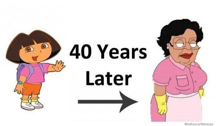 Dora The Explorer 40 Years Later Hilarapee Gabetumblr Family Guy Make Me Laugh I Laughed