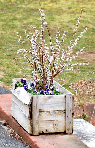 30 Fresh Ways To Decorate For Easter Porch Decorating Wood Planters