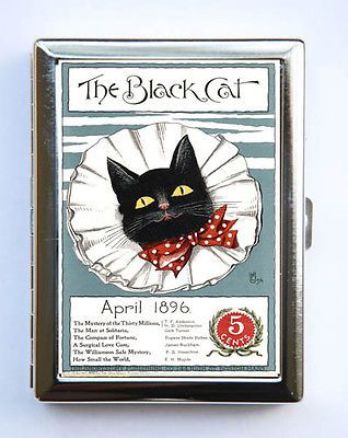 The black cat red bow tie cigarette case wallet business card holder the black cat red bow tie cigarette case wallet business card holder colourmoves Choice Image
