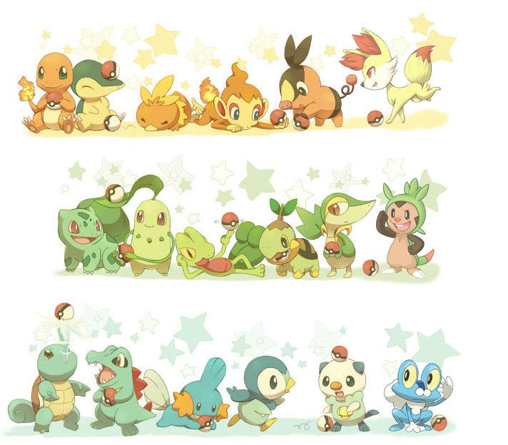 all six generations of starter pokemon i chose fire for all but