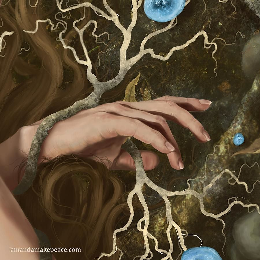 Tendrils spreading their magic... Detail from my painting Forest Dreams. # art #hands #fantasy #magic #painting #artwo… | Insta art, Fantasy art,  Decorative painting