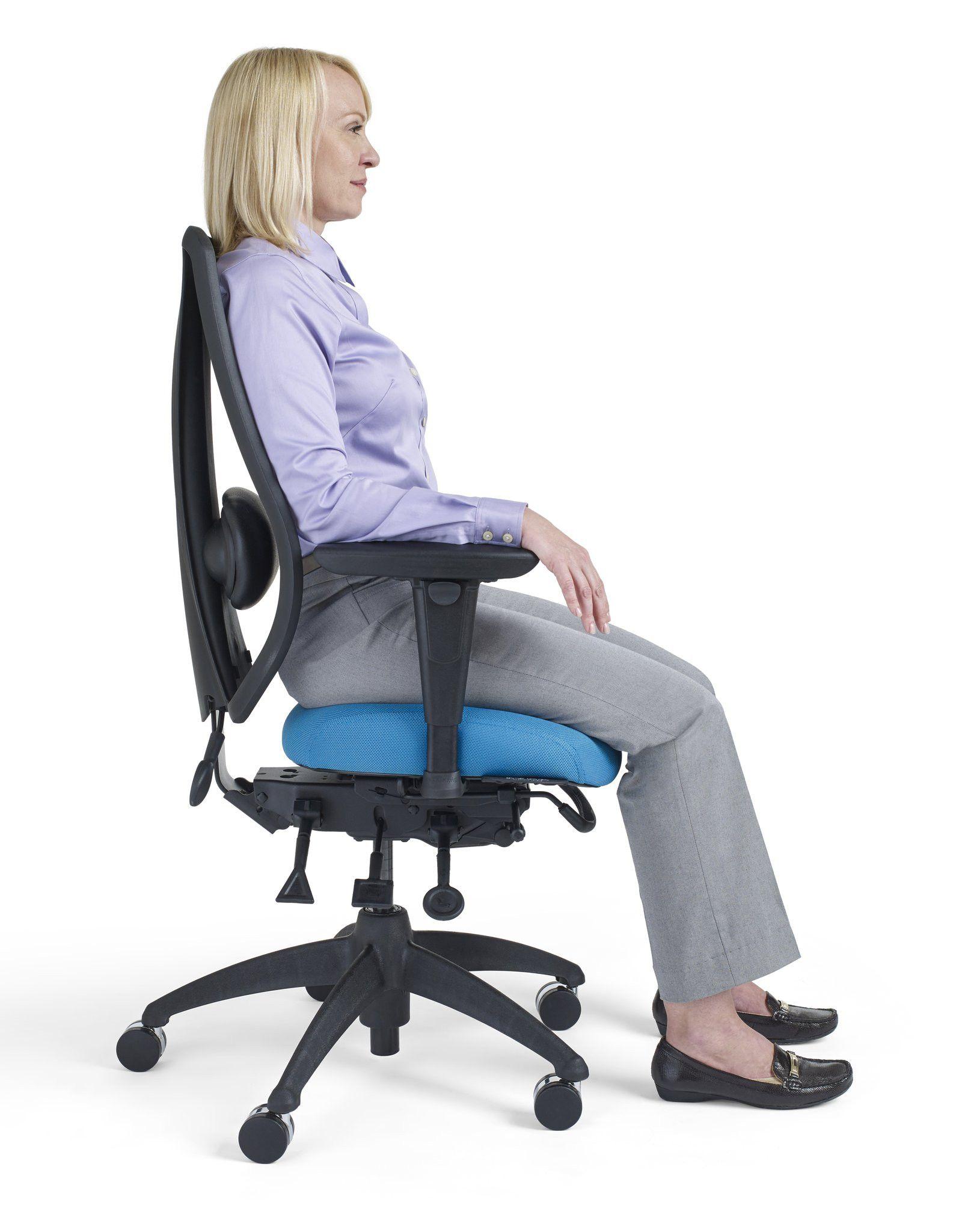 Du Genou Ergonomique Chaise Avec Le Dos Et Poignee Maille Tissu