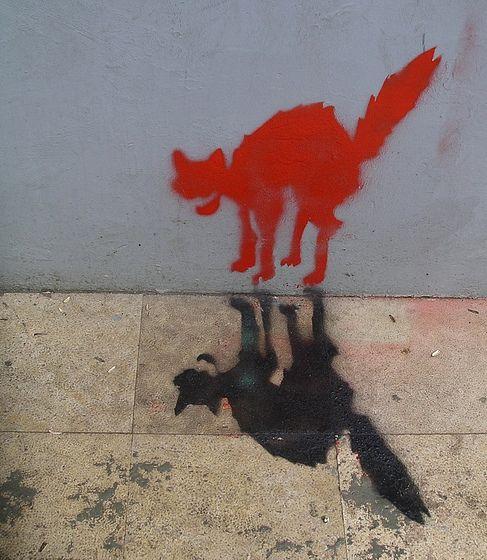 cat graffiti #street art