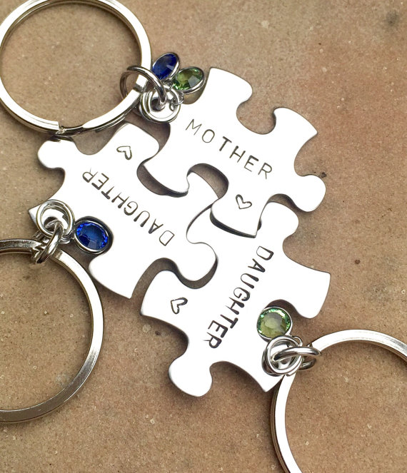 mother daughter gifts mother daughter puzzle key chains gifts for mom gifts for daughter natashalaoha - Valentines Gifts For Daughters