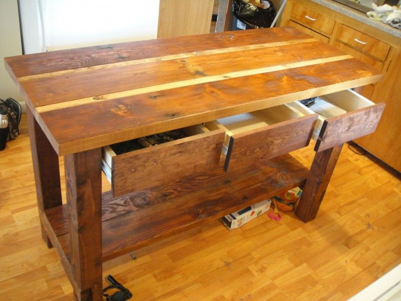 Kitchen Island Plans for your Kitchen Kitchen Island From Reclaimed