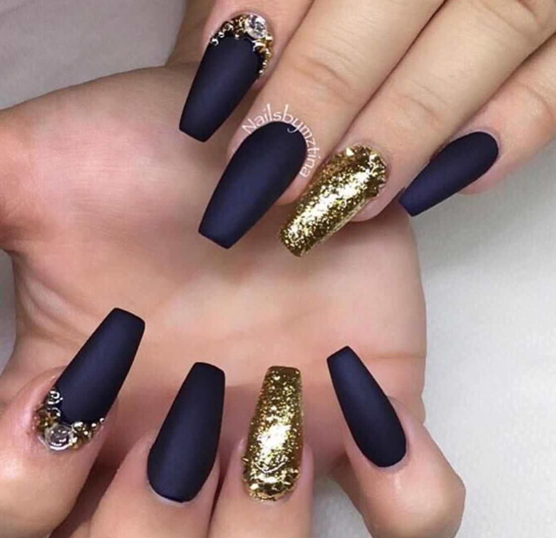 navy & gold | nailsnailsnailsnails:d | pinterest | navy, gold and