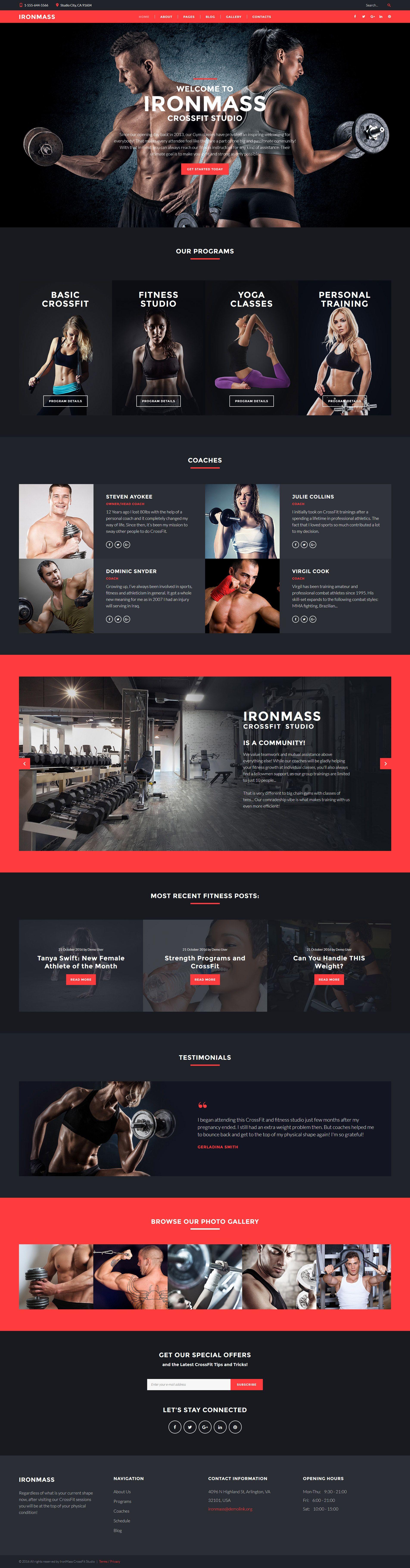 IronMass - Fitness Joomla Template   Pinterest   Template, Website ...