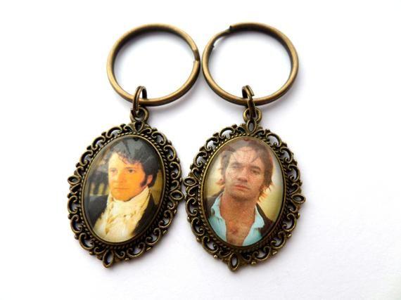 Cameo Necklace/Keyring you choose - Mr Darcy - Pride and Prejudice #prideandprejudice