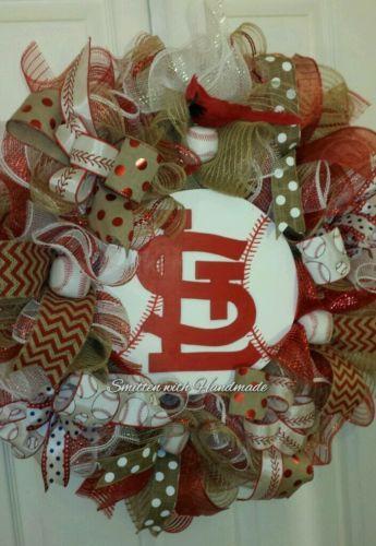 28 STL St Louis Cardinals New Design Baseball Door Wreath   EBay