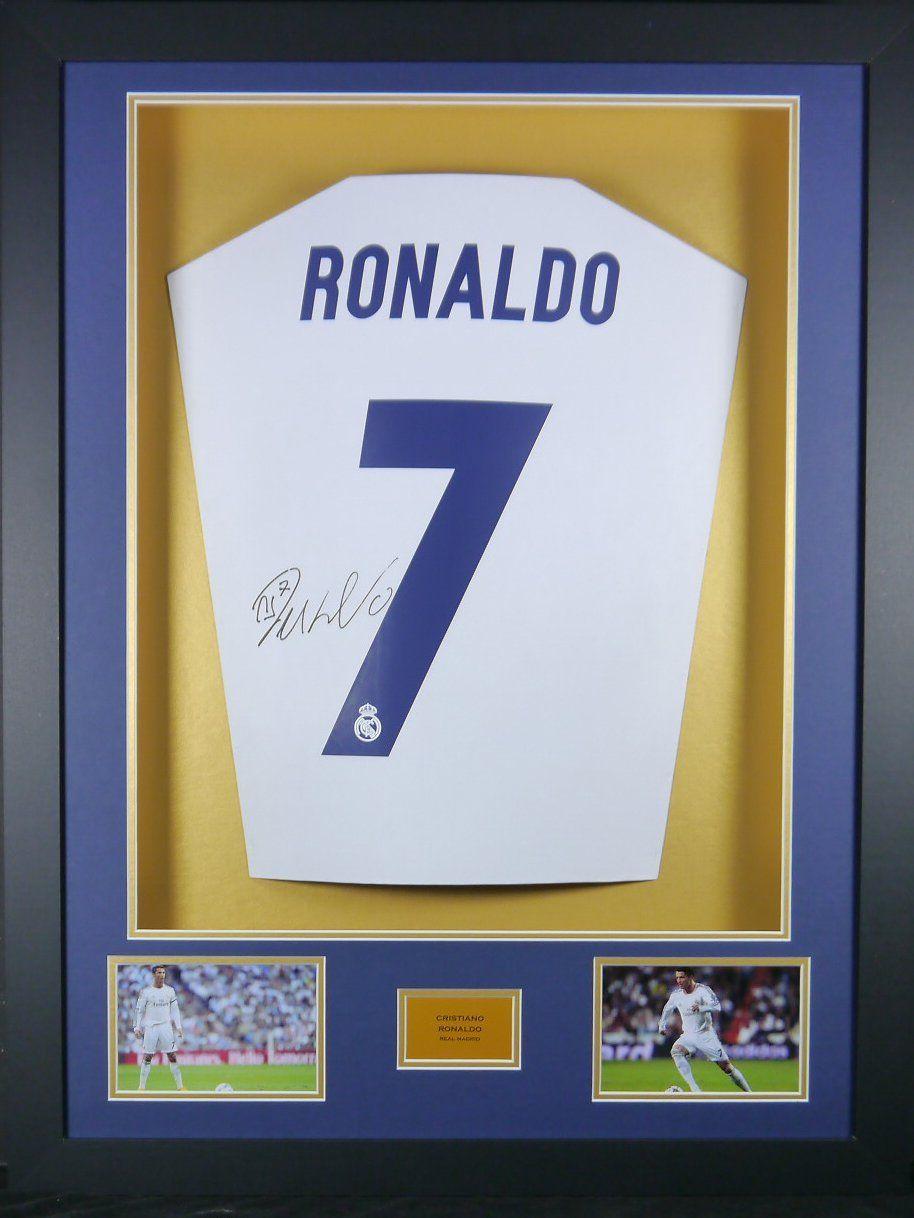 Cristiano Ronaldo Real Madrid unterzeichnet Shirt 3D gerahmt Display ...