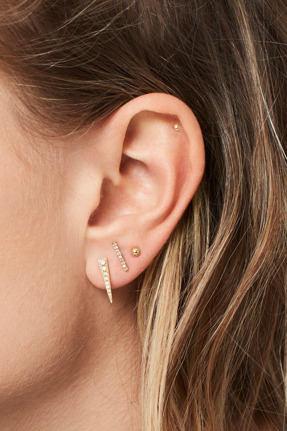Piercing nose with earring  SMALL GOLD STUD EARRING  Object  Want  Pinterest  Earrings