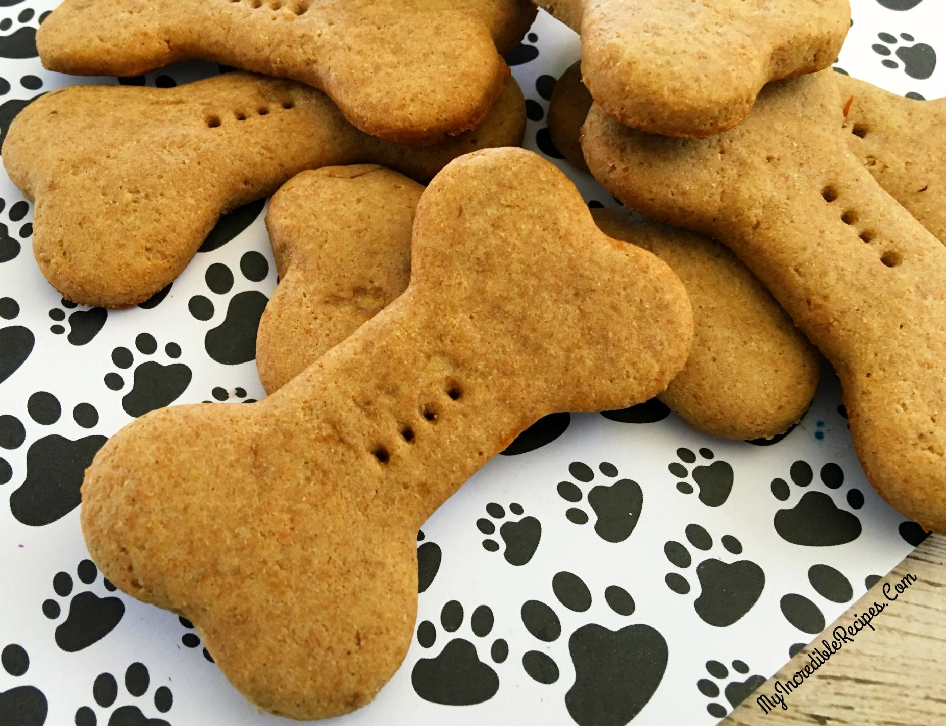 4 Ingredient Dog Biscuits Recipe Dog Cookies Dog Recipes Dog