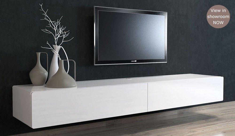 Ikon White Floating Tv Unit Medium Delux Deco
