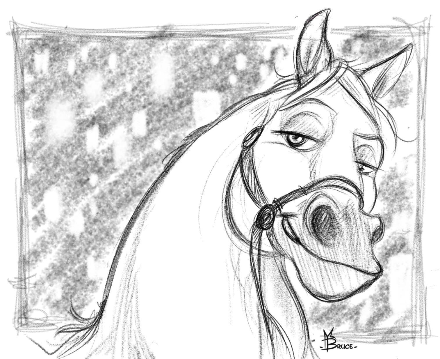 Coloriage De Cheval Maximus.Epingle Par Bruce Millet Art Sur Horses Drawings Refs