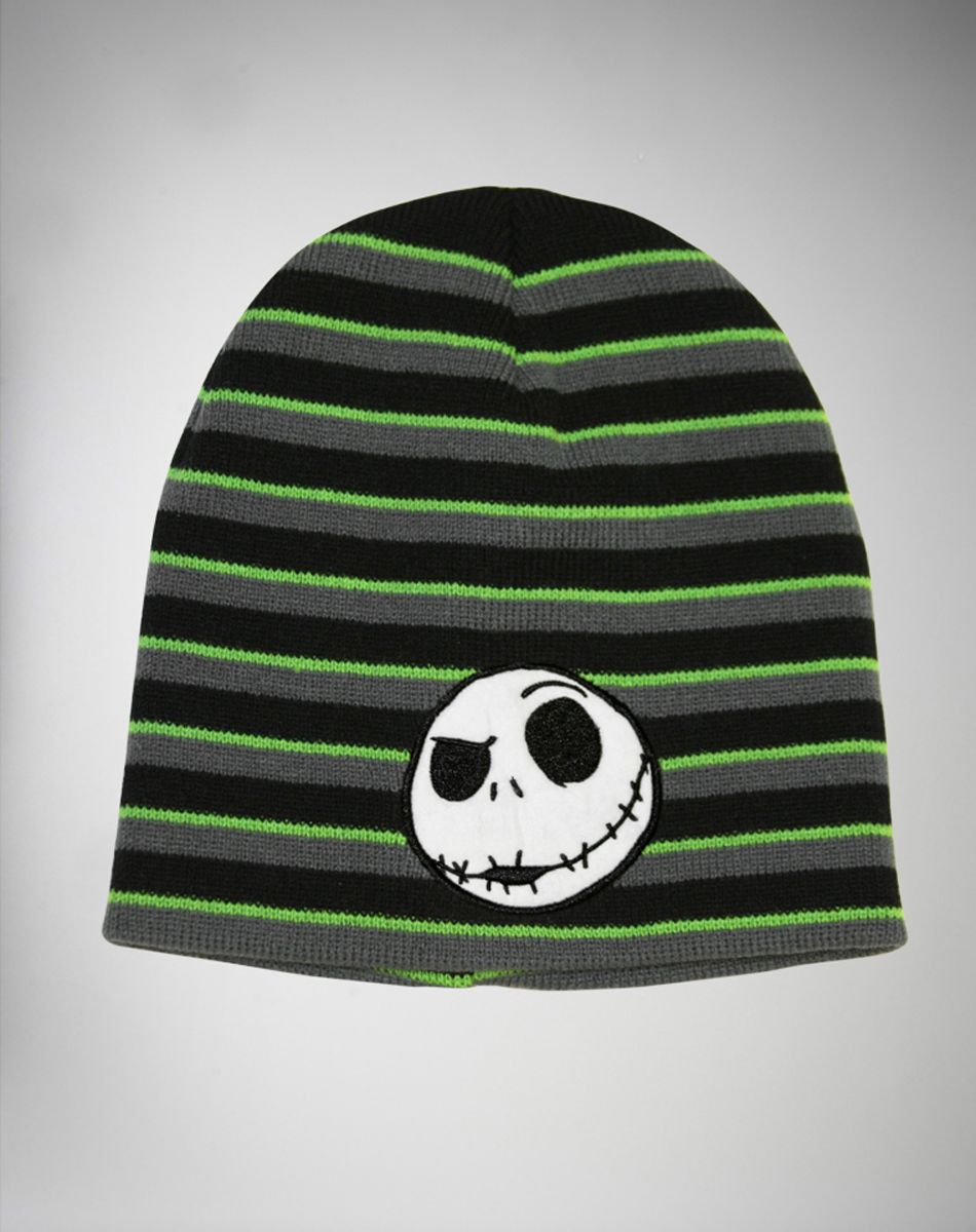 Nightmare Before Christmas Jack Striped Beanie  dc6019889d1a