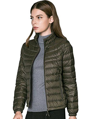 c5bdfc7d98c5 PINGORA Womens Fashion Ultra Lightweight Packable Down Jacket Coat with 90  down XL Army Green -- You can find out more details at the link of the  image.